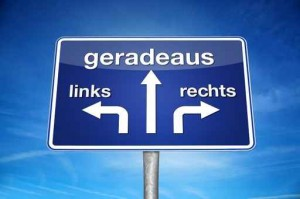 Geradeaus Links Rechts